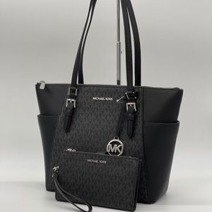 Michael Kors Charlotte Bag & Double Zip Wa…